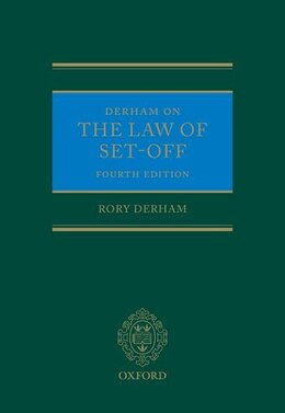 Book Derham on the Law of Set-Off by Rory Derham