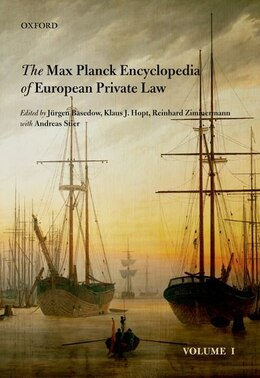 Book Max Planck Encyclopedia of European Private Law by Jurgen Basedow
