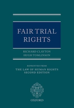 Book Fair Trial Rights by Richard Clayton QC