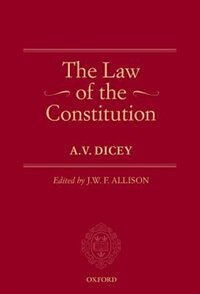 Book The Law of the Constitution by A.V. Dicey