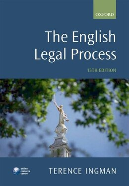 Book The English Legal Process by Terence Ingman