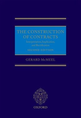Book The Construction of Contracts by Gerard McMeel