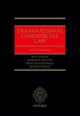 Book Transnational Commercial Law: International Instruments and Commentary by Roy Goode