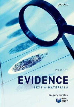 Book Evidence: Text and Materials by Gregory Durston