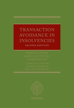 Book Transaction Avoidance in Insolvencies by Rebecca Parry