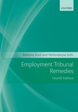Book Employment Tribunal Remedies 2011-2012 by Anthony Korn