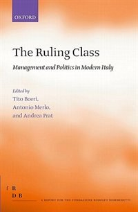 Book The Ruling Class: Management and Politics in Modern Italy by Tito Boeri