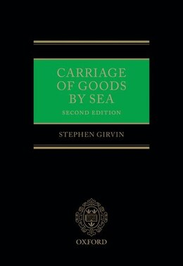 Book Carriage of Goods by Sea by Stephen D. Girvin