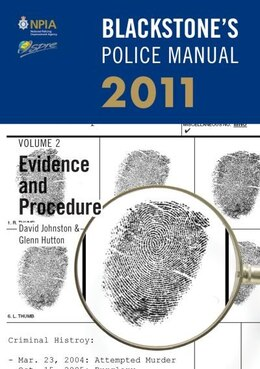 Book Blackstones Police Manual Volume 2: Evidence and Procedure 2011 by David Johnston