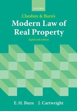 Book Cheshire and Burns Modern Law of Real Property by Edward Burn