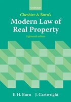 Cheshire and Burns Modern Law of Real Property
