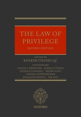 Book The Law of Privilege by Patrick Goodall