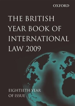 Book British Year Book of International Law 2009 Volume 80 by James Crawford
