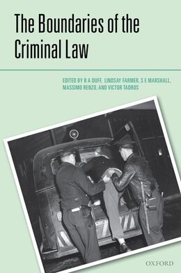 Book The Boundaries of the Criminal Law by R.A. Duff
