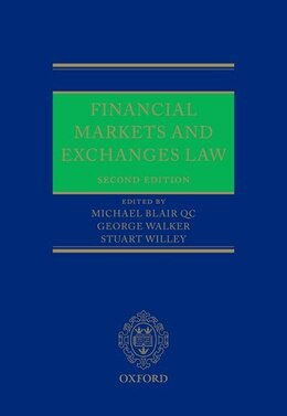Book Financial Markets and Exchanges Law by Michael Blair