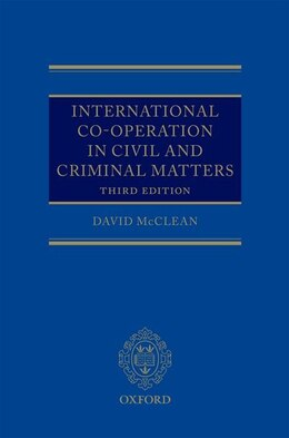 Book International Co-operation in Civil and Criminal Matters by David McClean