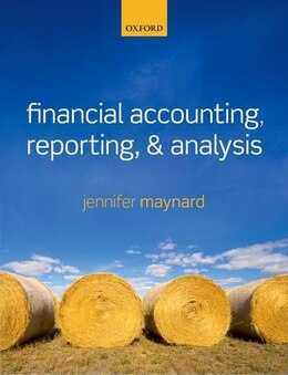 Book Financial Accounting, Reporting, and Analysis by Jennifer Maynard