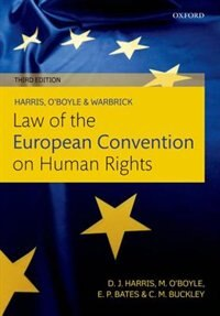 Book Harris, OBoyle, and Warbrick Law of the European Convention on Human Rights by David Harris