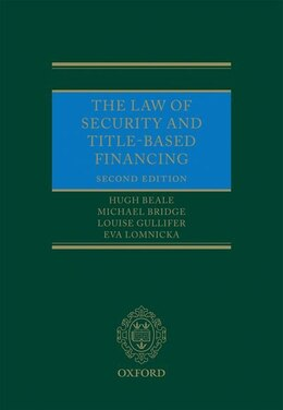 Book The Law of Security and Title-Based Financing by Hugh Beale
