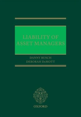 Book Liability of Asset Managers by Danny Busch
