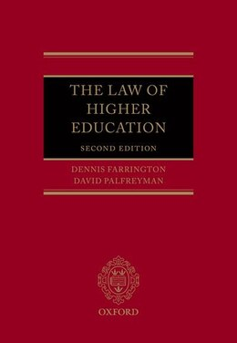 Book The Law of Higher Education by Dennis Farrington