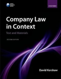 Company Law in Context: Text and Materials: Text and materials