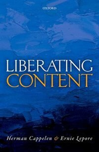 Book Liberating Content by Herman Cappelen
