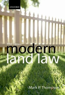 Book Modern Land Law by Mark P. Thompson