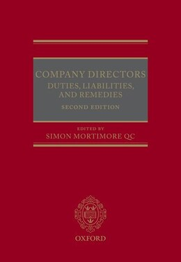 Book Company Directors: Duties, Liabilities, and Remedies by Simon Mortimore