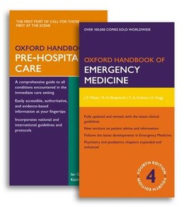 Book Oxford Handbook of Emergency Medicine Fourth Edition and Oxford Handbook of Pre-Hospital Care Pack by Jonathan P. Wyatt