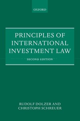 Book Principles of International Investment Law by Rudolf Dolzer