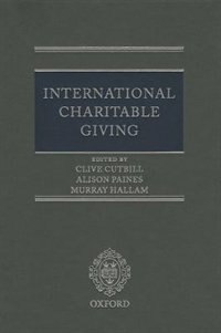 Book International Charitable Giving by Clive Cutbill