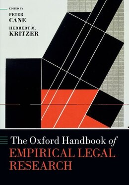 Book The Oxford Handbook of Empirical Legal Research by Peter Cane