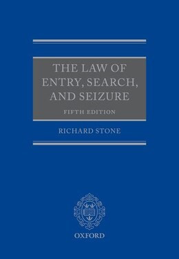 Book The Law of Entry, Search, and Seizure by Richard Stone
