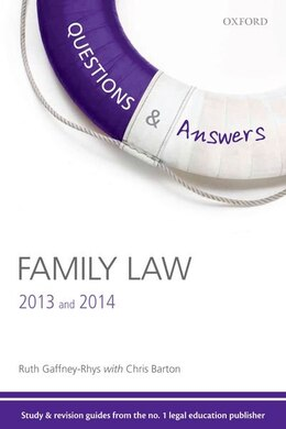 Book Q and A Revision Guide Family Law 2013 and 2014 by Ruth Gaffney-Rhys