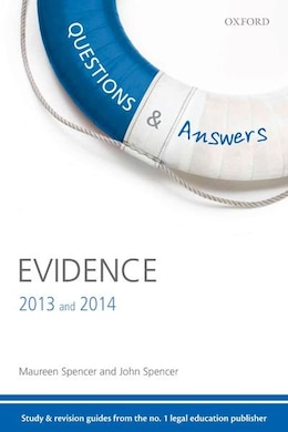 Book Q and A Revision Guide Evidence 2013 and 2014 by Maureen Spencer