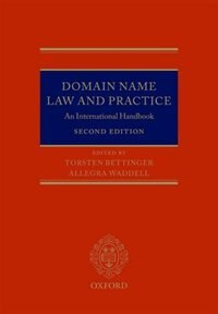 Book Domain Name Law and Practice: An International Handbook by Torsten Bettinger