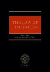 Book The Law of Limitation by Gerard McMeel