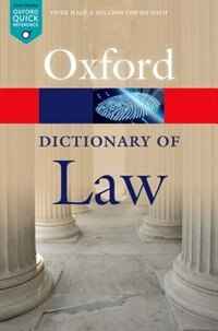 Book A Dictionary of Law by Jonathan Law