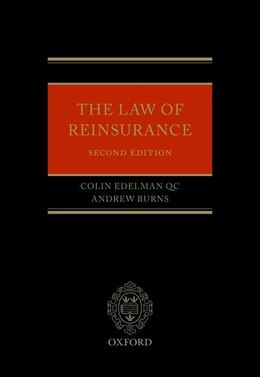 Book The Law of Reinsurance by Colin Edelman