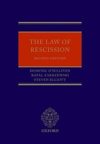 Book The Law of Rescission by Dominic OSullivan