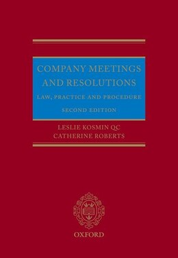 Book Company Meetings and Resolutions: Law, Practice, and Procedure by Leslie Kosmin