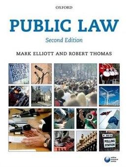 Book Public Law by Mark Elliott