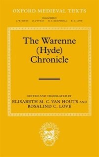 Book The Warenne (Hyde) Chronicle by Elisabeth Van Houts
