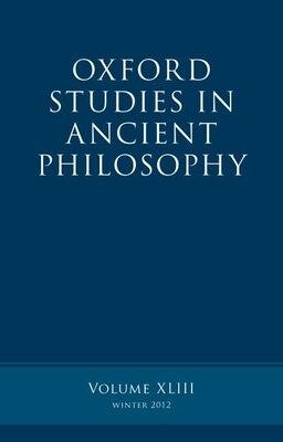 Book Oxford Studies in Ancient Philosophy, Volume 43 by Brad Inwood