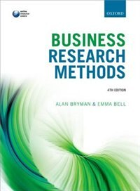 Book Business Research Methods by Alan Bryman