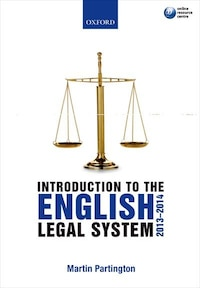 Introduction to the English Legal System 2013-2014