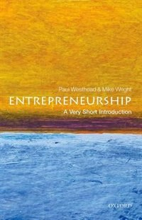 Book Entrepreneurship: A Very Short Introduction by Paul Westhead
