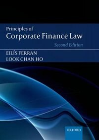 Book Principles of Corporate Finance Law by Eilis Ferran