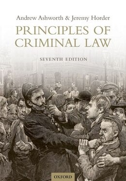 Book Principles of Criminal Law by Andrew Ashworth